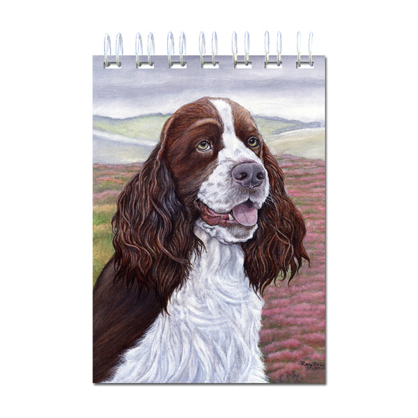 A6 Wire Bound English Springer Spaniel Notebook