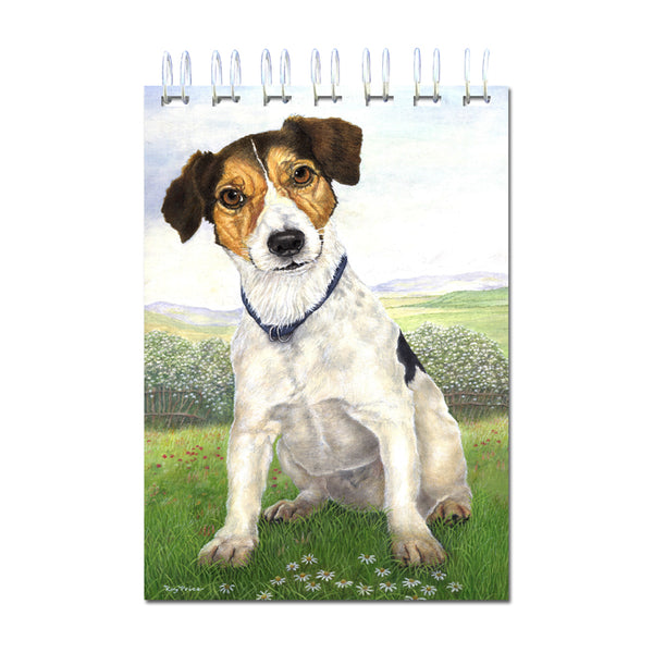 A6 Jack Russell Terrier Wire Bound Notebook