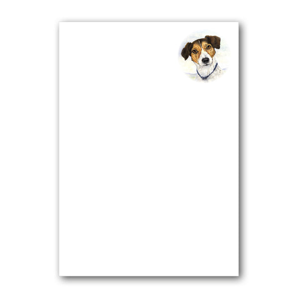 Pack of 6 Jack Russell Terrier Notepaper plain sheets and C6 envelopes from Dormouse Cards