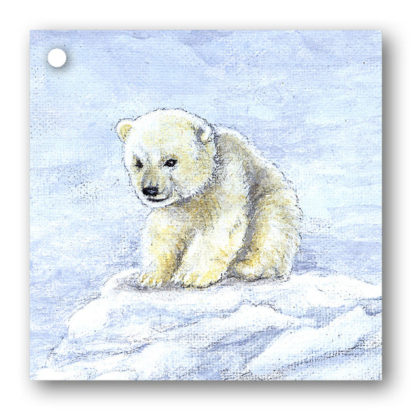 Baby Polar Bear Christmas Gift Tags from Dormouse Cards
