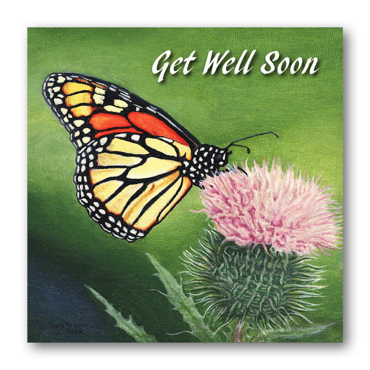 Butterfly Get Well Soon Card from Dormouse Cards