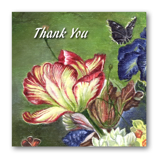 Fine Art Still Life Thank You Card Tulip from Dormouse Cards