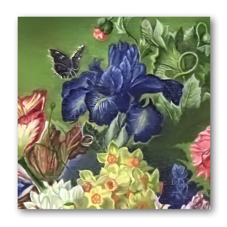 Fine Art Still Life Birthday Card Iris from Dormouse Cards