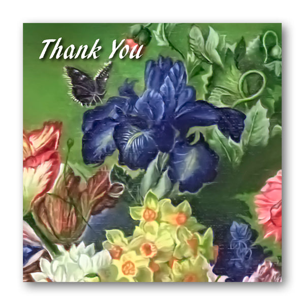 Fine Art Still Life Thank You Card Iris from Dormouse Cards
