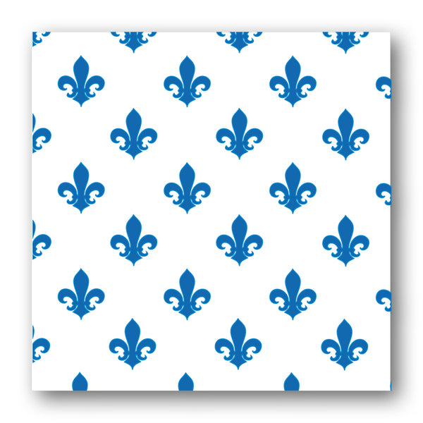 Pack of 5 Blue & White Fleur de List Notelets from Dormouse Cards