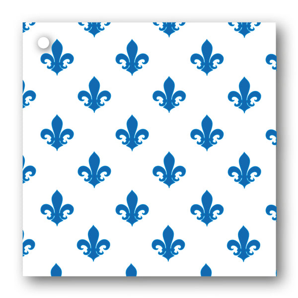 Pack of 10 Blue & White Fleur de List Gift Tags from Dormouse Cards