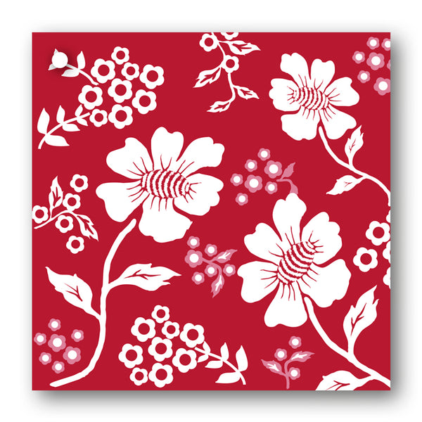 Pack of 10 Burgundy and White Floral Design Gift Tags
