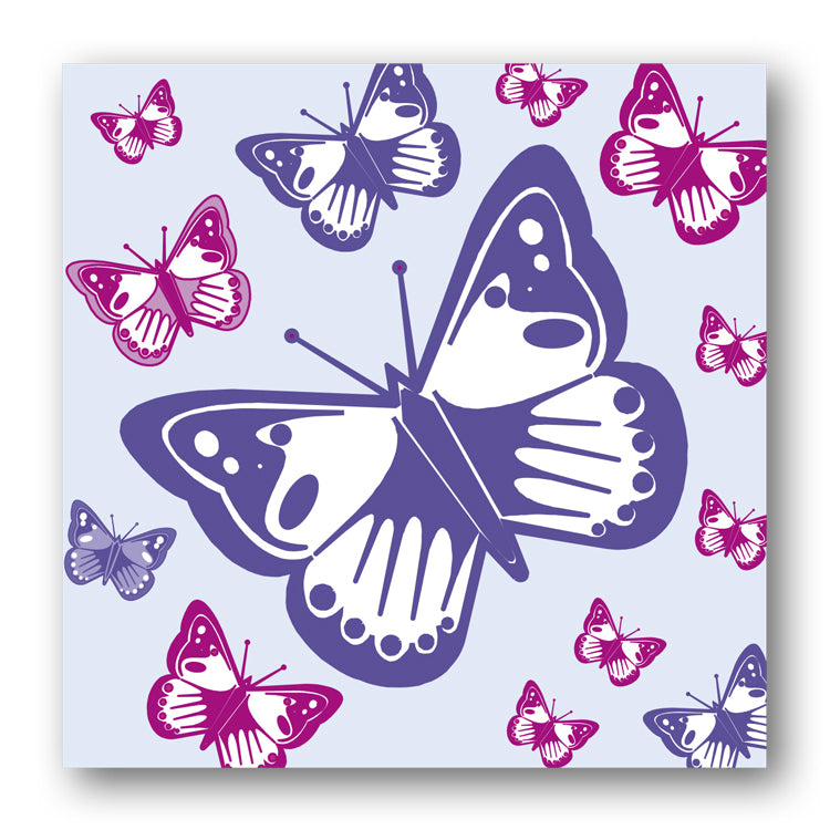 Pack of 5 Butterflies Notelets from Dormouse Cards