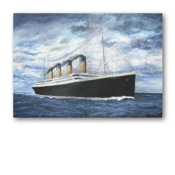 Pack of 5 A6 Titanic Notelets from Dormouse Cards