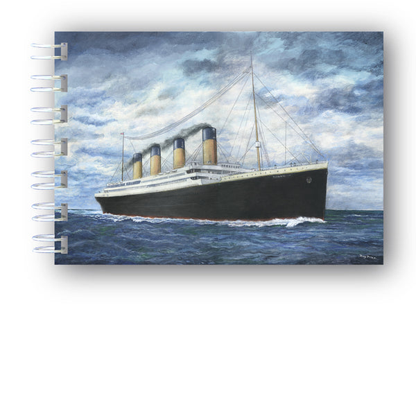 A6 Titanic Notebook from Dormouse Cards