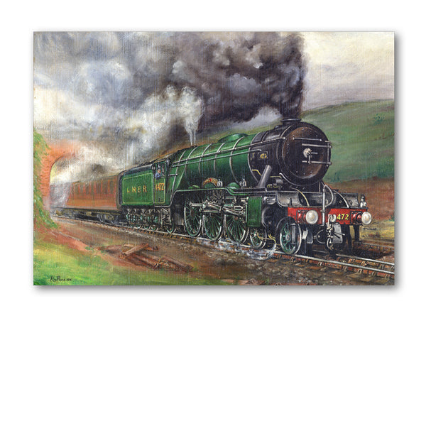 Pack of 5 A6 Flying Scotsman Steam Train Notelets from Dormouse Cards