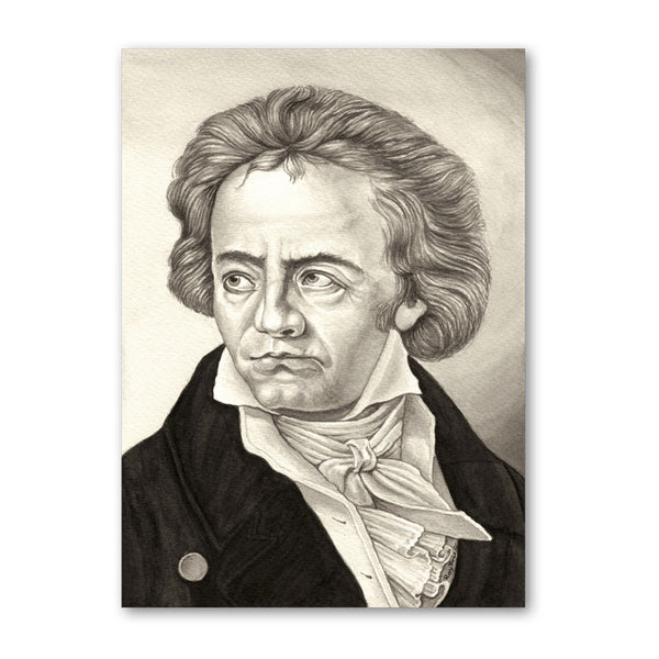 Fine Art Beethoven Father's Day Card from Dormouse Cards