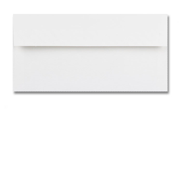 DL High White Conqueror textured envelopes supplied with A4 plain notepaper from Dormouse Cards