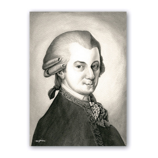 Pack of 5 A6 Mozart Notelets