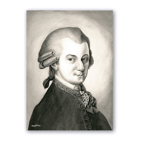 Fine Art Mozart Birthday Card from Dormouse Cards