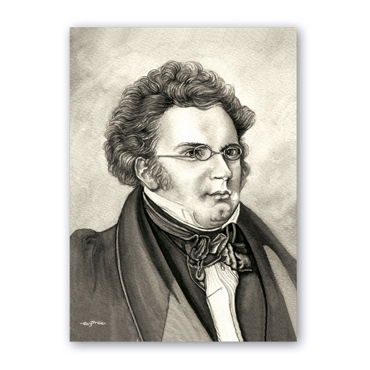 Schubert Notelets from Dormouse Cards