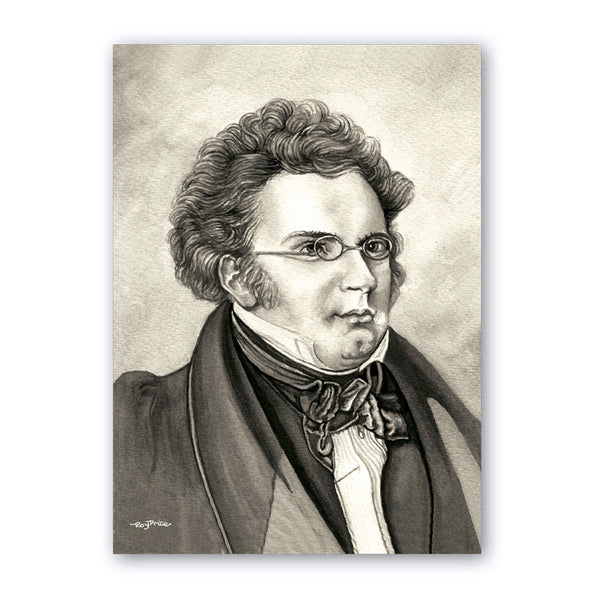 Fine Art Schubert Birthday Card from Dormouse Cards