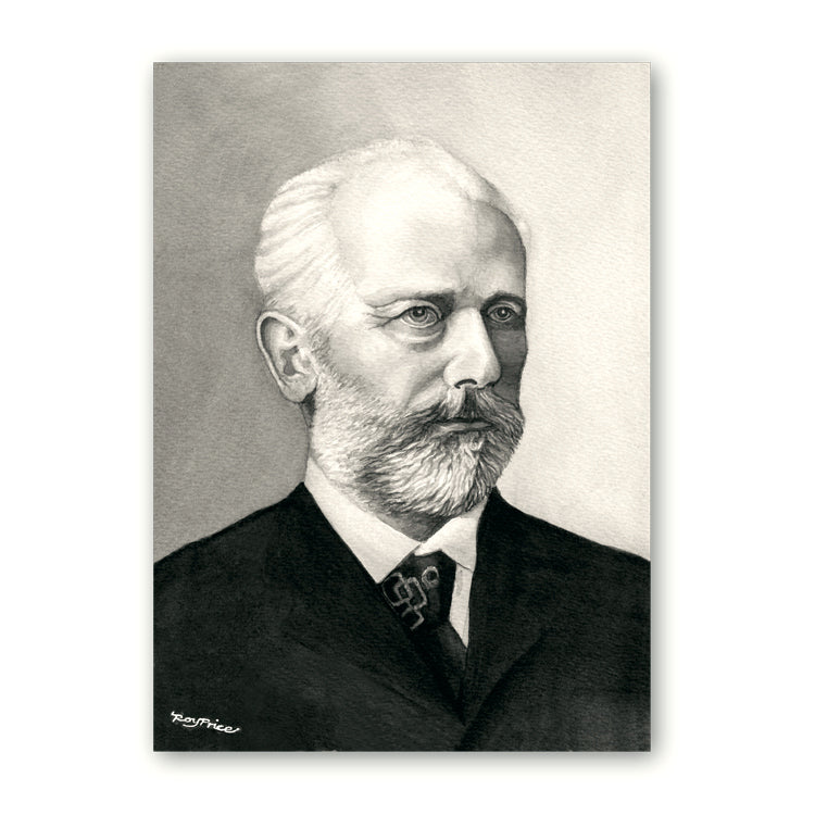 Tchaikovsky Birthday Card and Gift Tags from Dormouse Cards