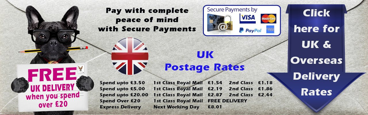 UK and Overseas Delivery Rates from Dormouse Cards