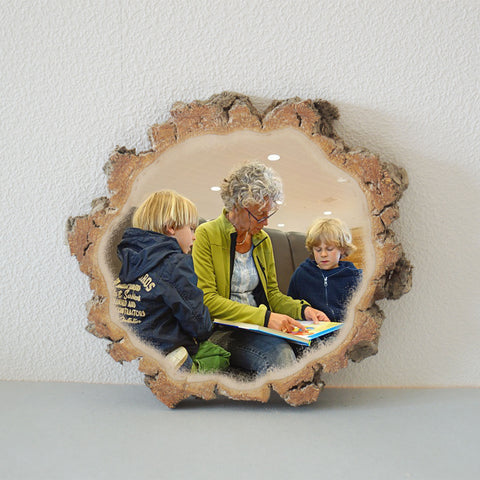 Wooden Photo Wood Slice Photo Wood Slice Wood Photo Print