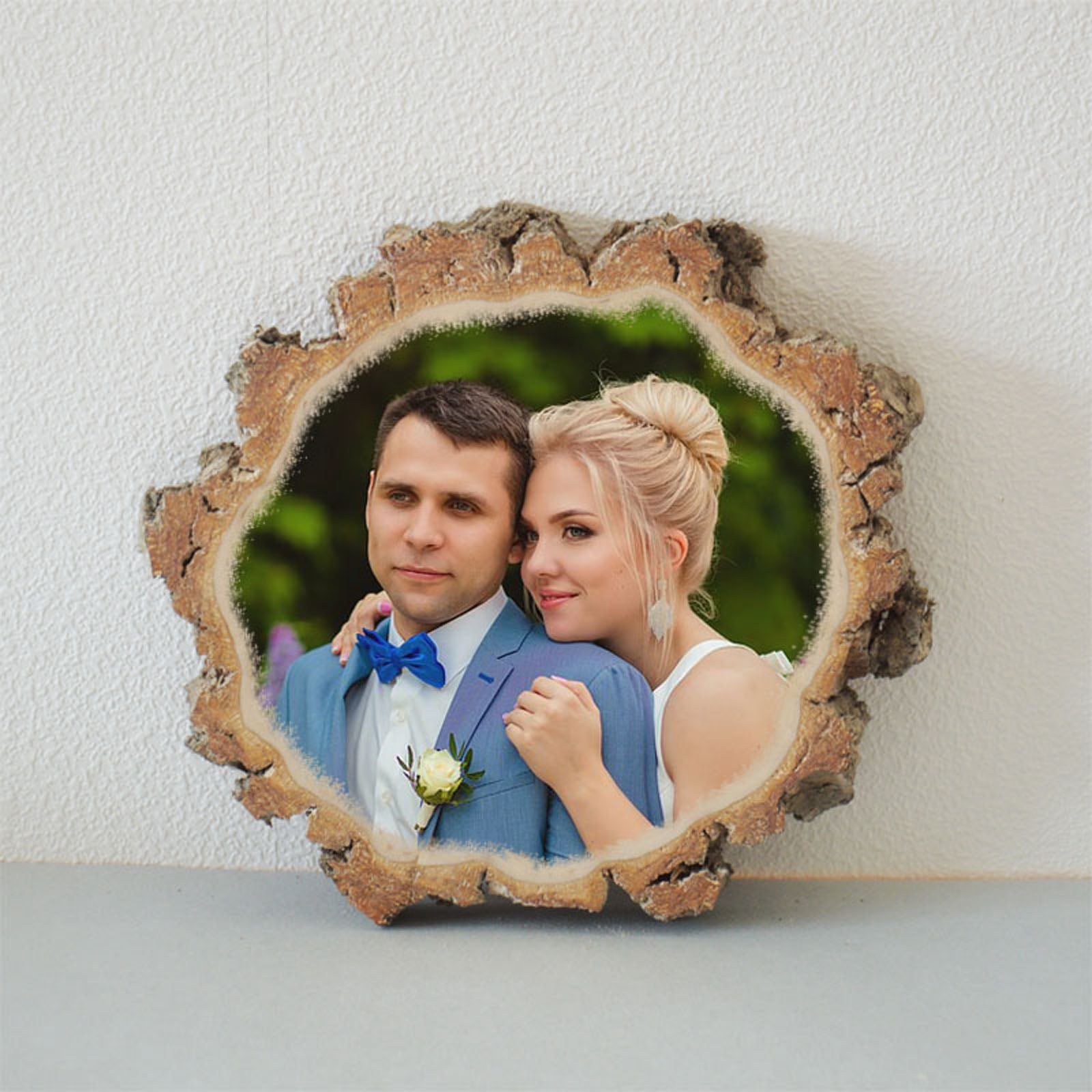 Wooden Picture Wooden Photo on Wood Slice Photo Transfer