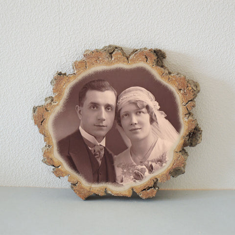 Picture Ornament Picture on Wood Photo Transfer Picture on Wood