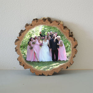Wooden Picture Wooden Photo Wood Slice Photo Gift