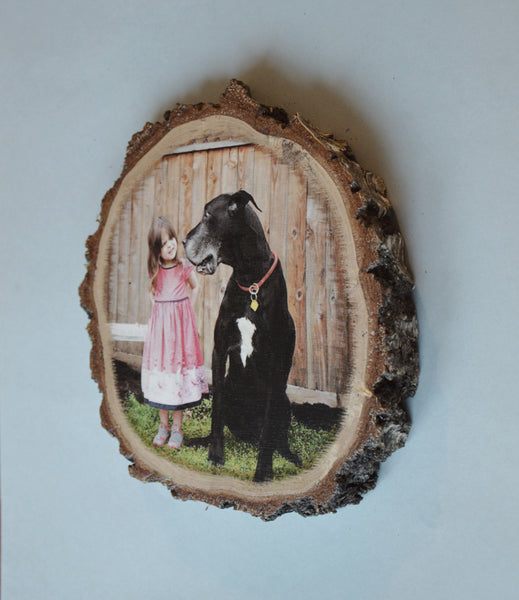 Wood Photo on Wooden Slice Buy Online- Price from 17$- Photos-Various Sizes