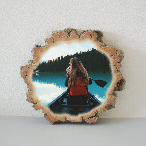 Wooden Picture Wooden Photo Wood Slice Photo Print on Wood
