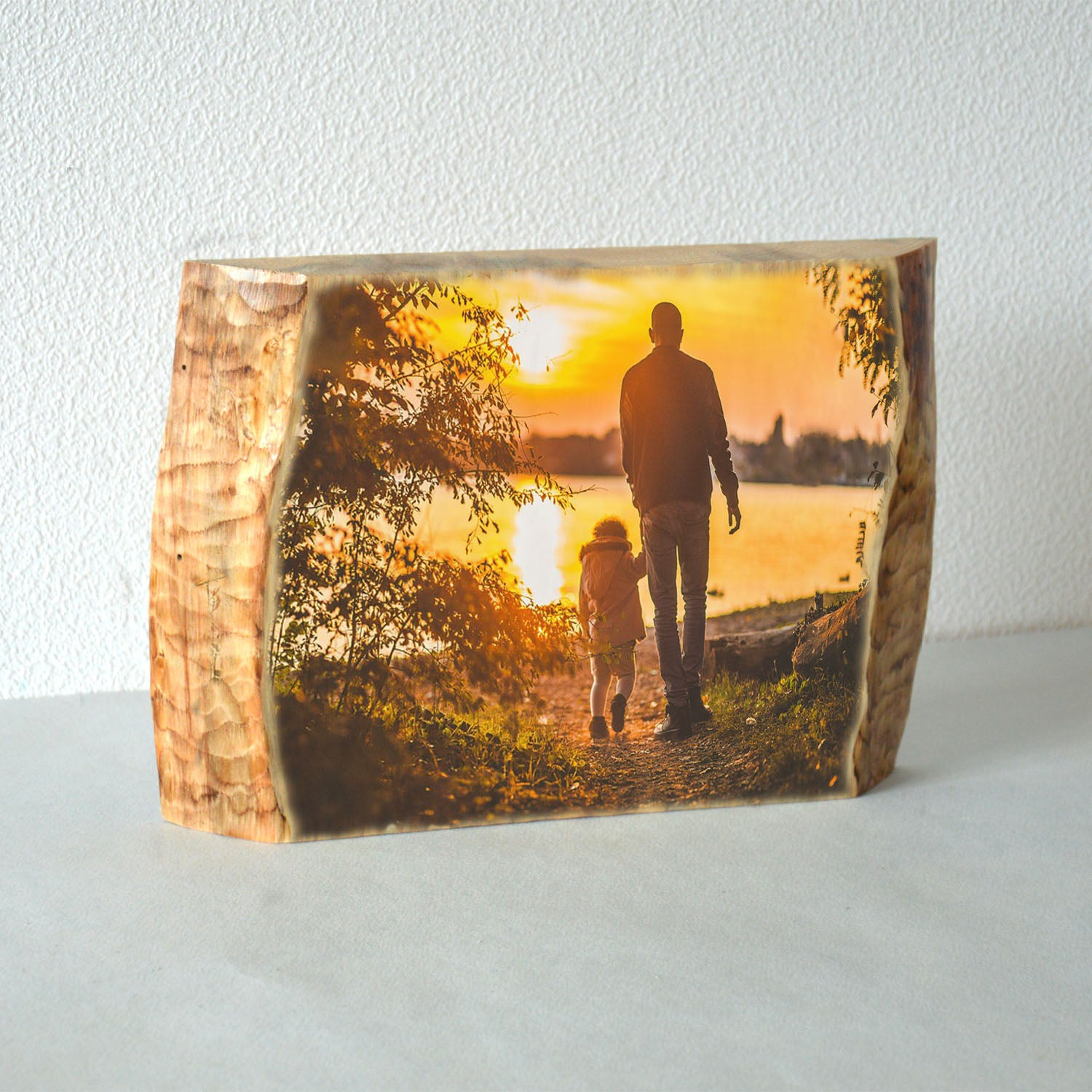 Wood Photo Transfer on Wood Slice Photo on Wood Slice Rustic Wood