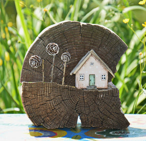 Wood Houses Wooden Gift Miniature Home Decor
