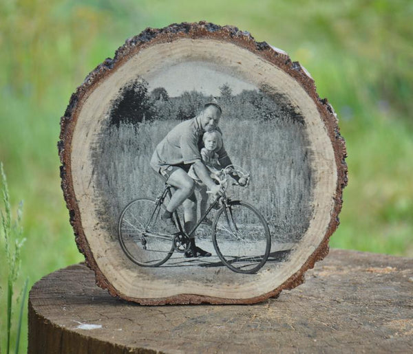 Picture Ornament Picture on Wood Photo Transfer on Wood