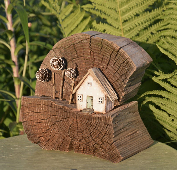 Handmade Wood Present Mini Houses Model Eco Gift