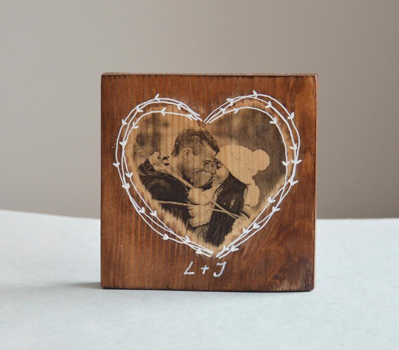Wooden Picture Wooden Photo Wooden Heart Wood Photo