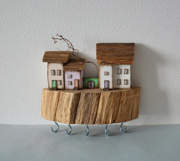 Hooks Key Hanger Custom Key Rack Driftwood Key Holder