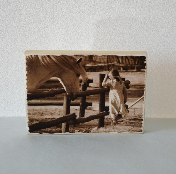 Photo Gift Photo Ornament Wood Photo Print on Wood Art