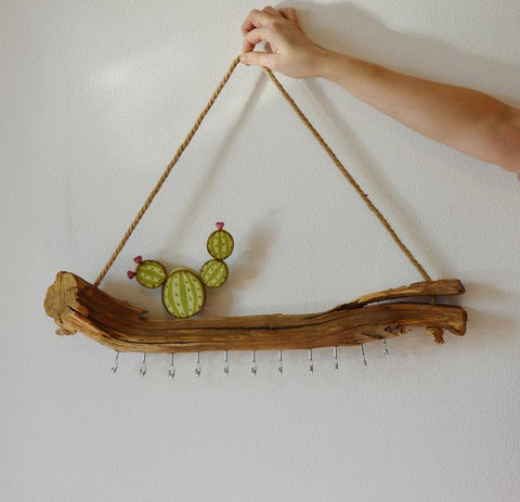 Driftwood Jewelry Display Jewelry Organizer Jewelry Holder