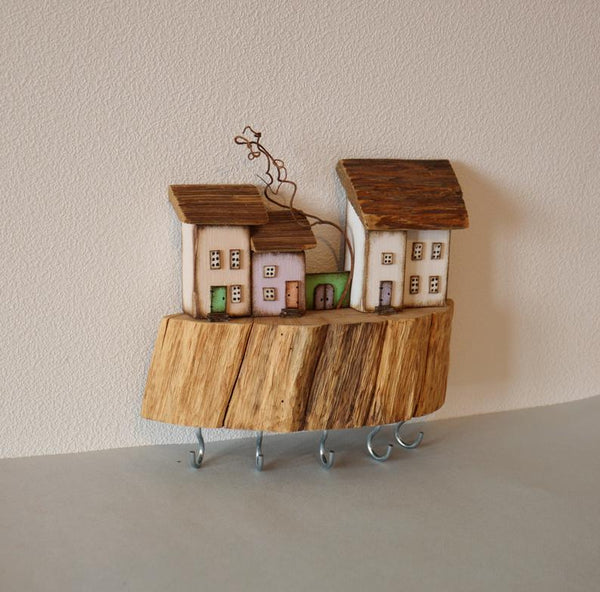 Driftwood Key Holder Jewellery Organizer Wall Key Storage