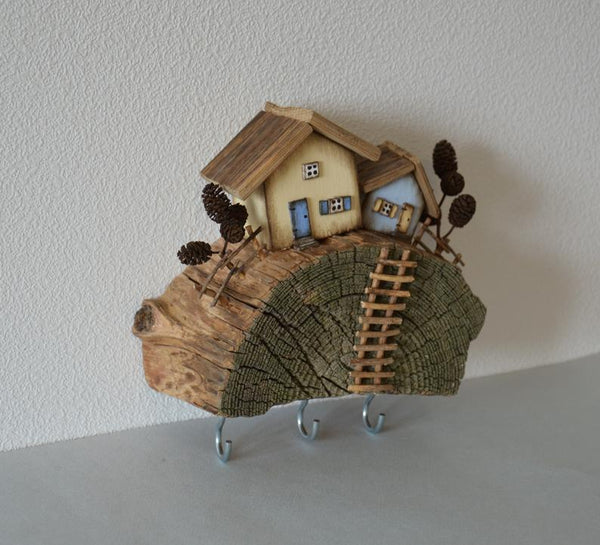 Custom Key Holder Driftwood House Jewellery Organizer