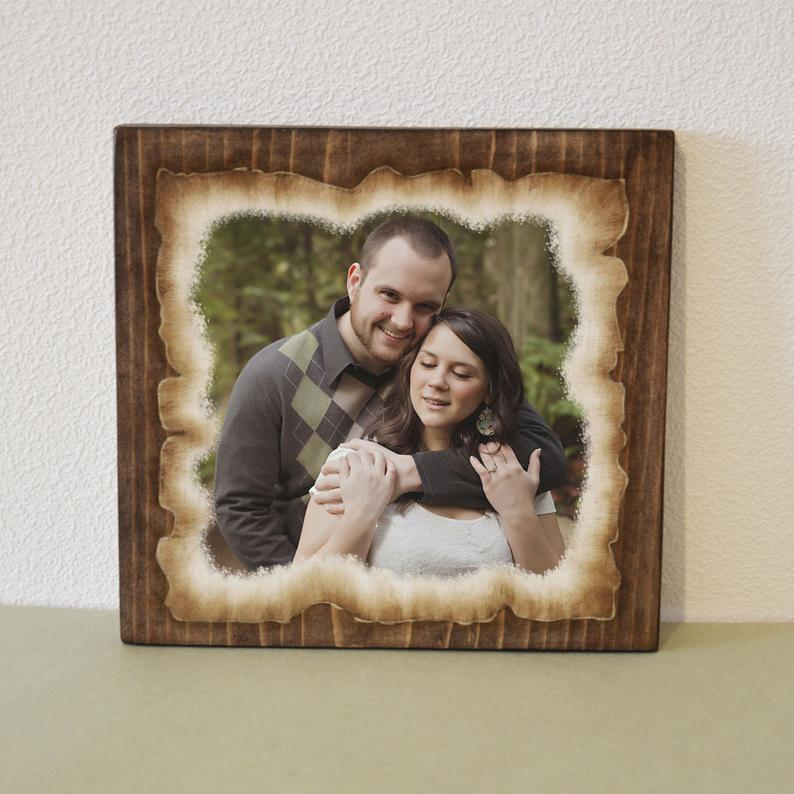 Wood Photo Transfer on Wood Slice Photo  Wood Rustic Wood