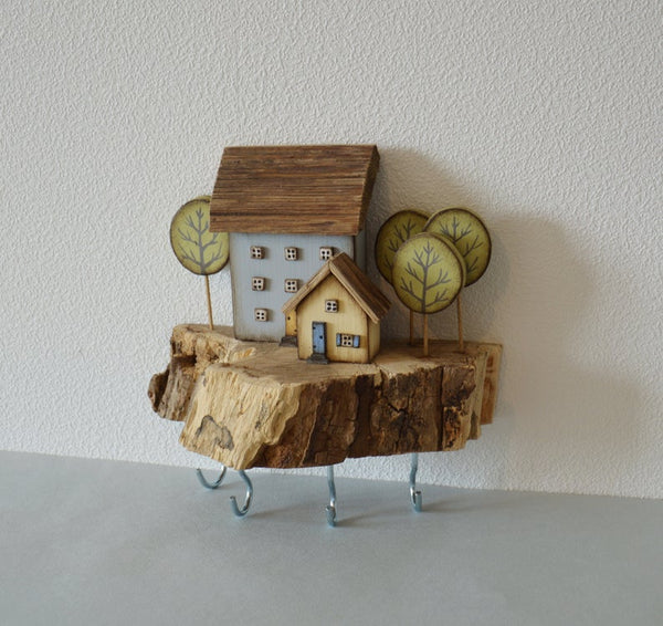 Driftwood Wooden Key Holder Wall Key Hooks Key Hanger Custom Key Rack