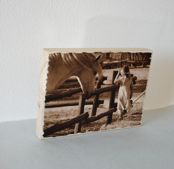 Rustic Wood Photos on Wood Photo Gift