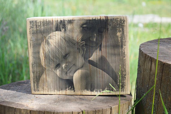Picture on Wood Slice Wooden Photo Picture Ornament