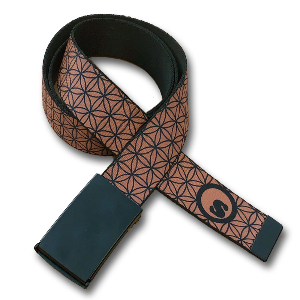 Belt : Flower of Life (BROWN)