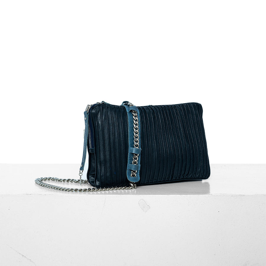 Nanako | Shoulder Bag Blue - Patricia Bos