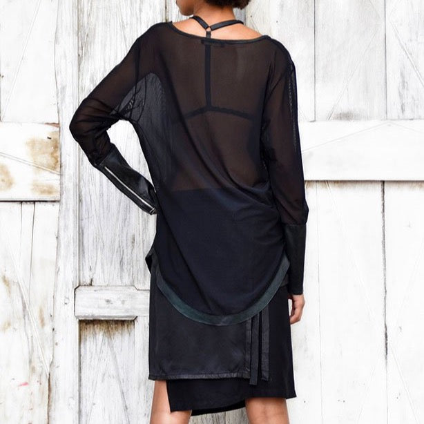 Gil T | Long Sleeved Sheer T-shirt - Patricia Bos
