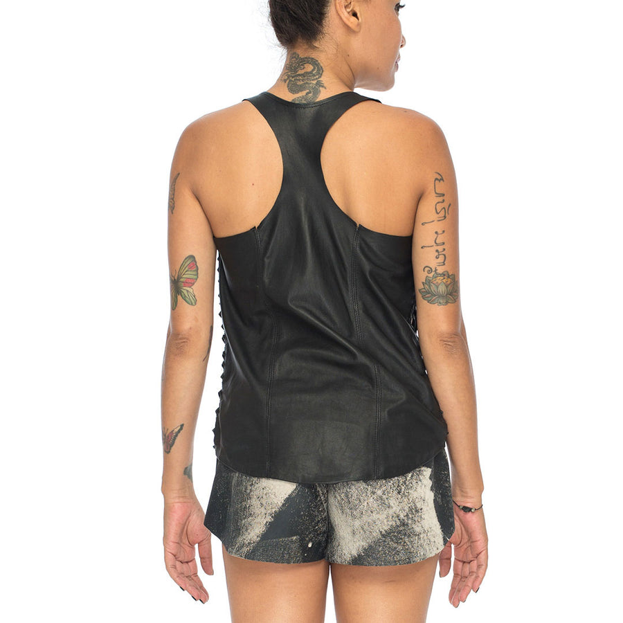 Sena | Leather Woven Tanktop - Patricia Bos