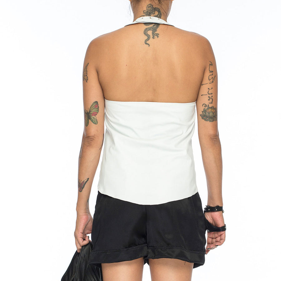 Sweeny | Leather Camisole Top - Patricia Bos
