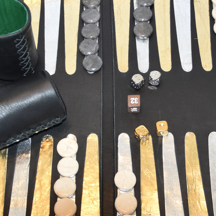 "Leather Backgammon Board | ""Deluxe"""