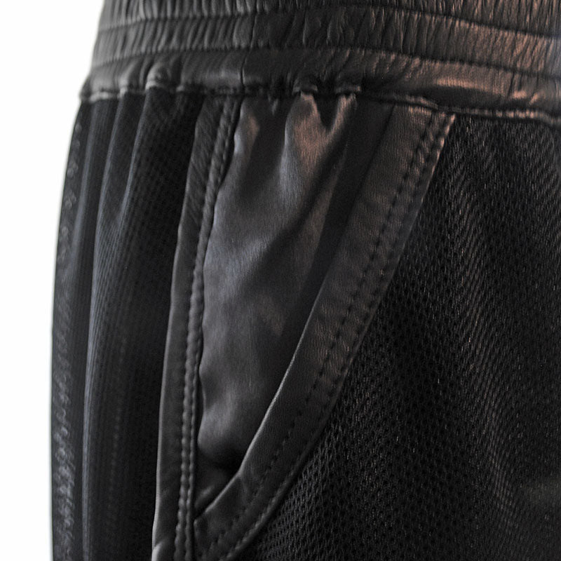 Drivit | Black Leather Detail Shorts - Patricia Bos